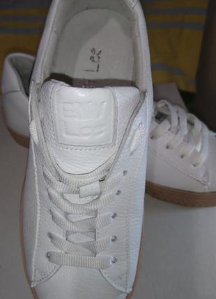 Кеды кожаные белые размер 38 enylee
