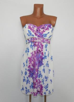 Шифоновое платье размер s