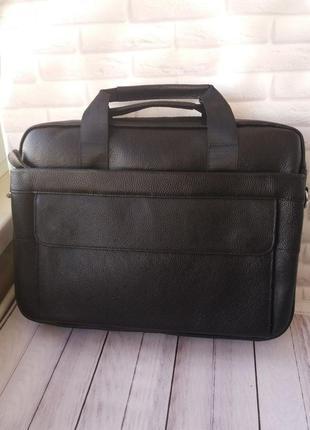 Большая мужская сумка а4 для ноутбука кожаная из натуральной к...
