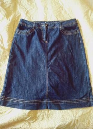 Модная плотная джинсовая трапецевидная юбка большого размера 1...