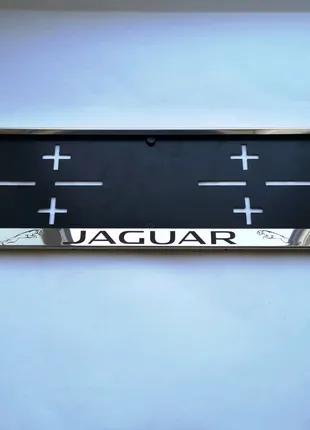 Рамка для номера Jaguar. Номерная рамка, подномерник.