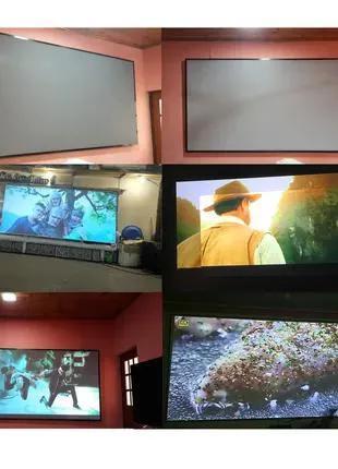 Серый проекционный Экран Ткань светоотражающая 130'' для проектор