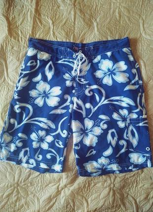 Легкие мужские шорты на лето в цветы xxl wudi новое состояние