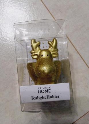 Подсвечник в виде оленя со свечой в наборе