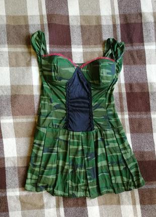 Секси милитари платье на 23 февраля