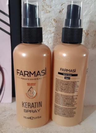 Спрей для волос с кератином farmasi акция января фармаси турция