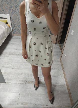 Красивое легкое нежное платье хлопок