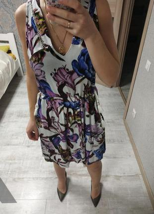 Лёгкое летнее платье сарафан миди вискоза