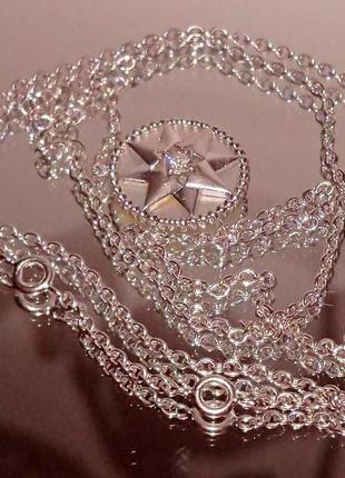 Колье коллекция rose des vents dior, белое золото 750, бриллиа...