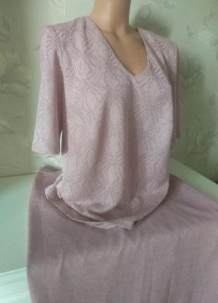Женский пудровый  🌸🌸🌸 дизайнерский костюм, размер 50-52