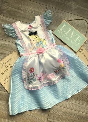 Платье алиса в стране чудес disney 7-8л