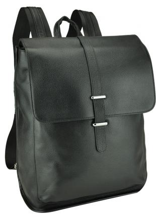 Компактный рюкзак мужской кожаный стильный casual застежка клапан