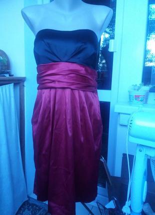 Новое вечернее  платье с завышенной талией цвет фуксии 40 р am...