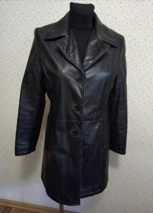 Кожаная куртка кардиган пальто натуральная кожа