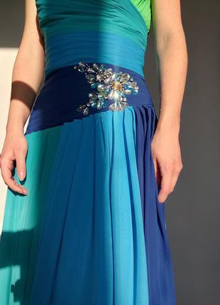 Необычное воздушное выпускное платье, корсет, вечернее платье,...