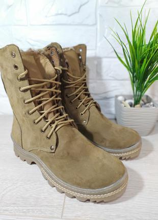 Мужские зимние ботинки с натуральным мехом