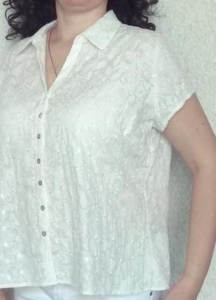 Вышитая белая блуза 24р