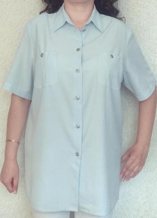 Рубашка нежно-голубого цвета