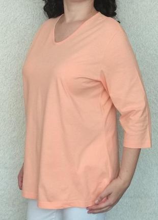Лонгслив пудрового персикового цвета