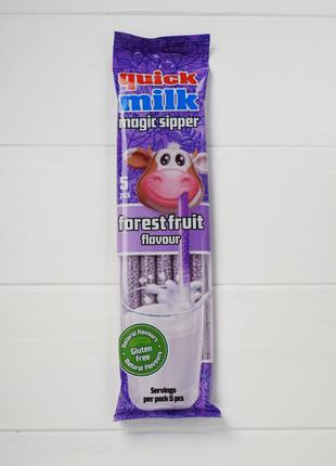 Трубочки быстрое какао вкус лесных ягод Quick Milk magic sippe...