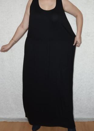 Натуральное платье из вискозы, батал