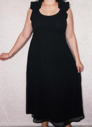 Элегантное черное платье