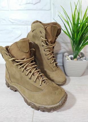 Зимние мужские ботинки с мехом беж