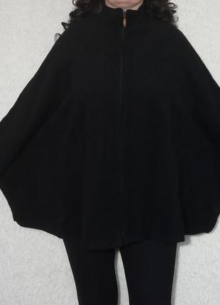 Распродажа!!! шерстяная накидка-пальто на застежке молнии