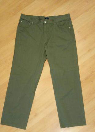 Хлопковые штаны цвета хаки