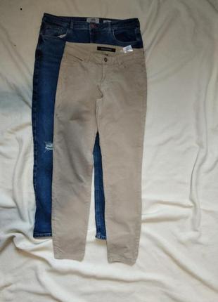 Велюровые джинсы брюки штаны слим