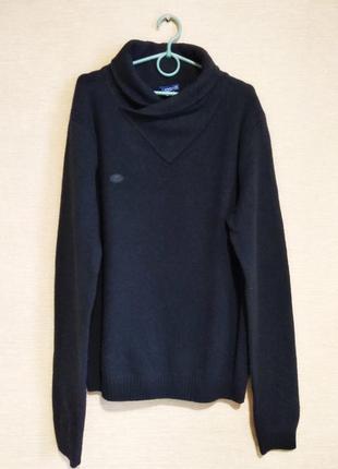 Шерстяной черный свитер джемпер пуловер шерсть