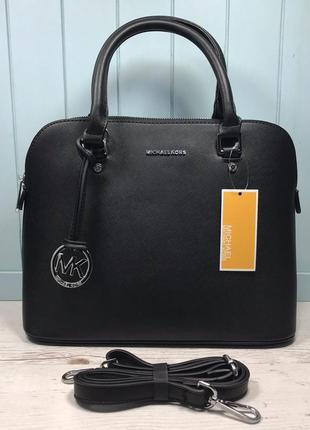 Женская сумка жіноча чорна черная на плечо Michael Kors Cindy