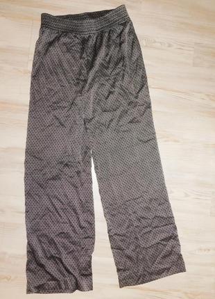 Широкие атласные брюки h&m