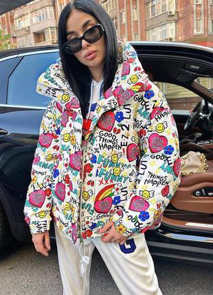 Крутейшие оверсайз куртки с яркими  надписями и рисунками🤩 кур...