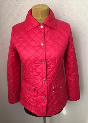 Яркая красивая демисезонная стёганная куртка, италия, размер и...