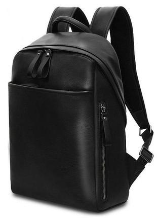 """Рюкзак кожаный для ноутбука 13 14"""" мужской стильный анатомичес..."""