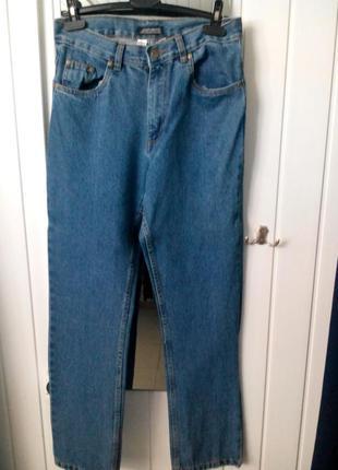Мужские классические джинсы с высокой посадкой