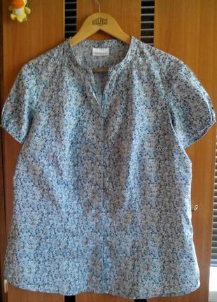 Летняя женская блузка рубашка тенниска в цветочки yessica