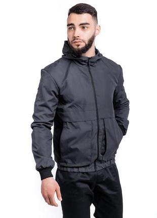 Мужская осення куртка спортивная ветровка непродуваемая