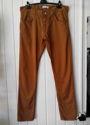 Супер мужские коттоновые зауженные брюки джинсы от zara