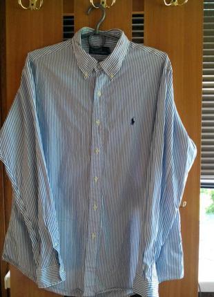Оригинал! мужская приталенная рубашка polo by ralph lauren