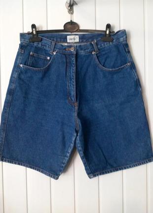 Модные джинсовые шорты с завышенной посадкой mom identic