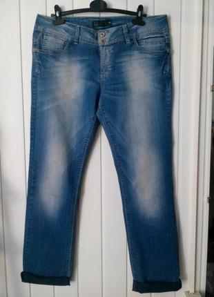 Супер удобные женские джинсы бойфренды большого размера 17&co.