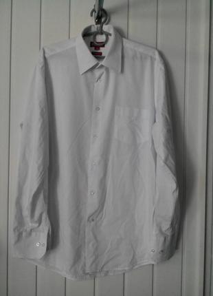 Белая рубашка primen slim fit