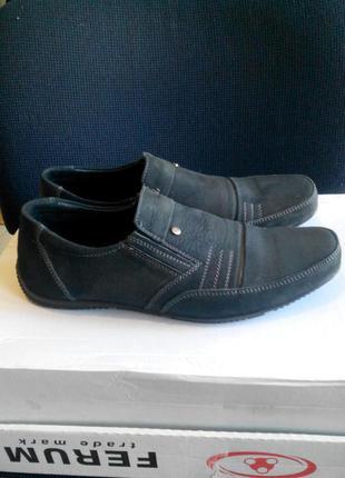 Мокасины туфли для подростка из натуральной кожи