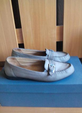 Женские туфли мокасины из натуральной кожи
