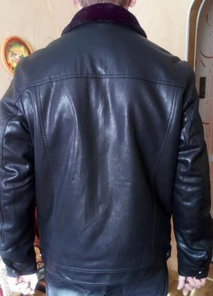 Куртка кожаная зимняя. Размер 48-50. Новая.
