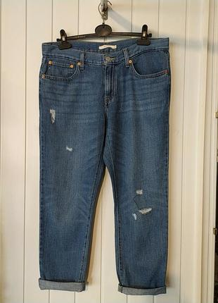 Женские джинси бойфренди рвание с дирками levis оригинал