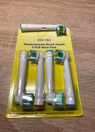 Насадки на зубную щетку Oral-B EB-18а(4шт) (Oral-B 3D White)