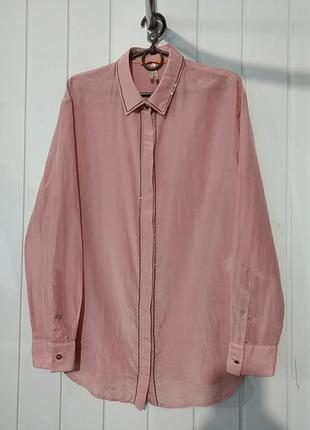 Оригинал boss шелковая женская нюдовая рубашка с паетками
